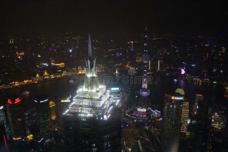 Άποψη από το παγκόσμιο οικονομικό κέντρο της Σαγκάη στοκ εικόνες