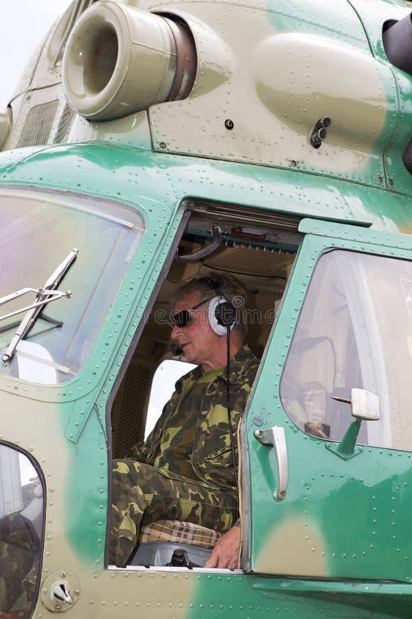 Άποψη από το πιλοτήριο ενός ελικοπτέρου στοκ εικόνες