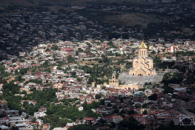 Άποψη από το υποστήριγμα Mtatsminda στο Tbilisi στοκ εικόνες