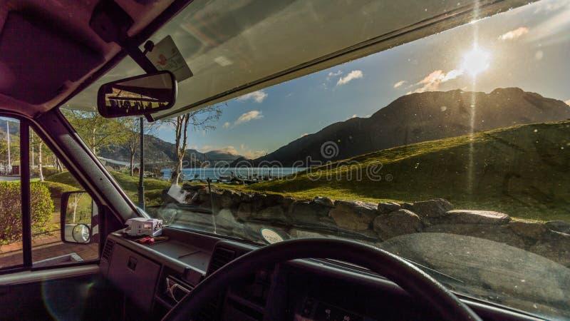 Άποψη από το φορτηγό στοκ φωτογραφία με δικαίωμα ελεύθερης χρήσης