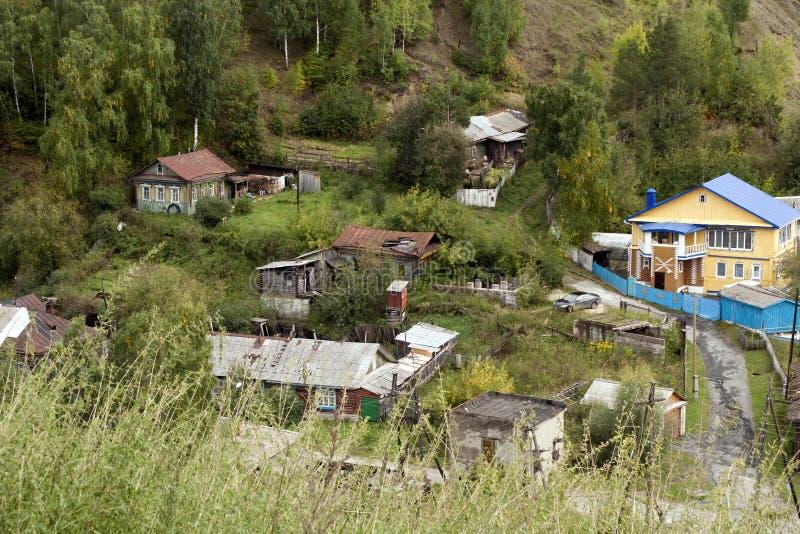 Άποψη από το φρούριο των σπιτιών στην άκρη της πόλης στοκ φωτογραφίες με δικαίωμα ελεύθερης χρήσης
