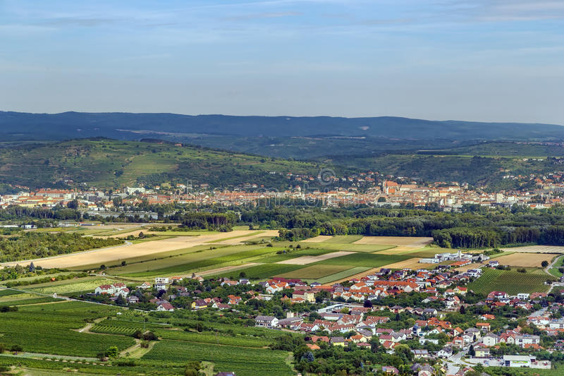 Άποψη από το λόφο αβαείων Gottweig, Αυστρία στοκ φωτογραφίες