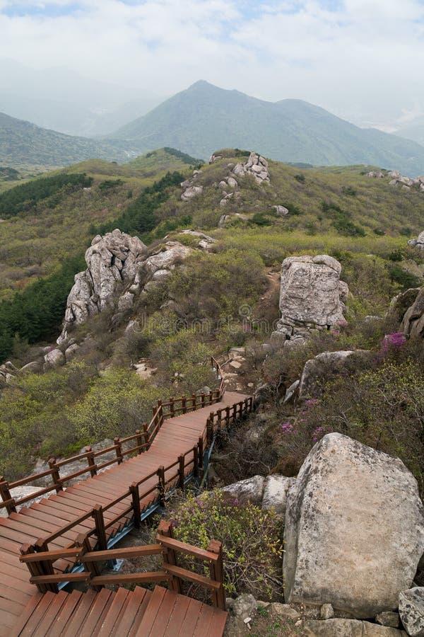 Άποψη από το Geumjeongsan Moutain σε Busan στοκ εικόνες