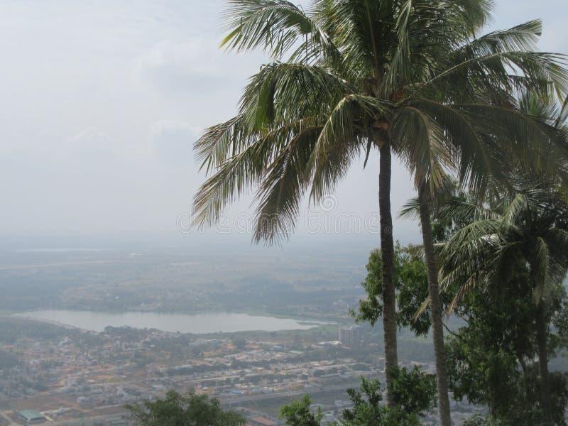 Άποψη από το Hill Chamundi στο Mysore στοκ εικόνες
