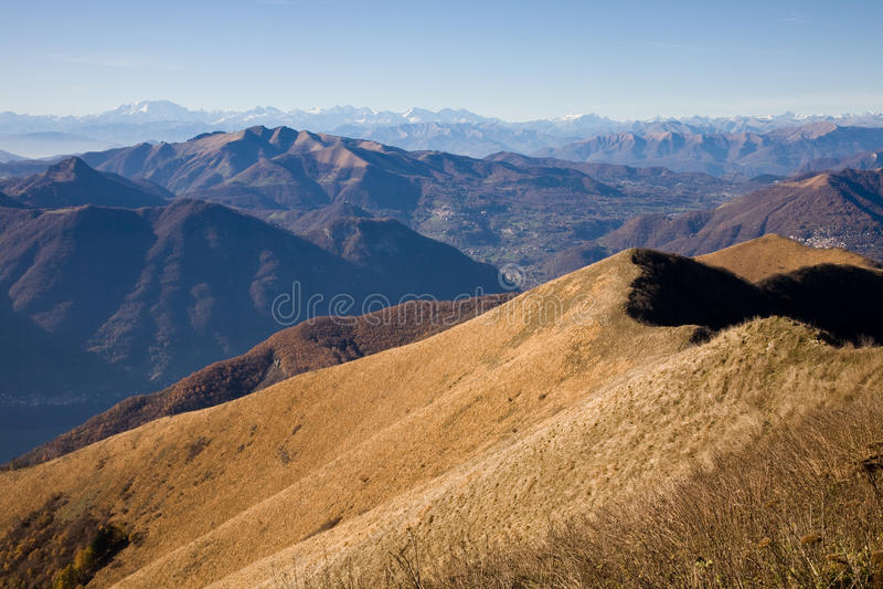 Άποψη από το SAN Primo, Λομβαρδία, Ιταλία στοκ εικόνα με δικαίωμα ελεύθερης χρήσης
