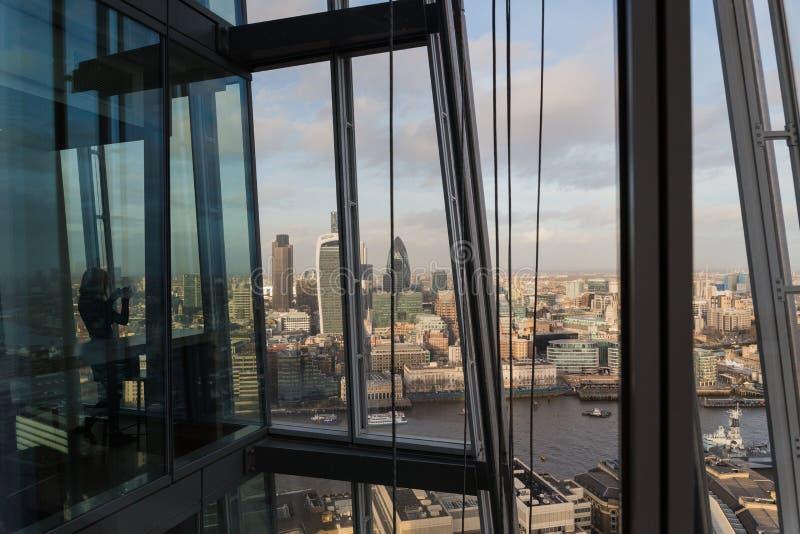 Άποψη από το Shard του ορίζοντα του Λονδίνου στοκ εικόνες
