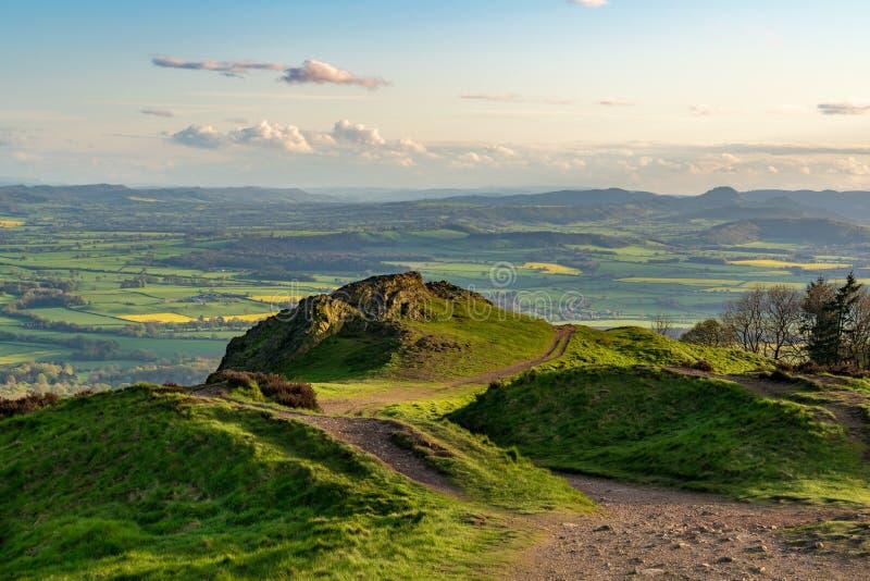 Άποψη από το Wrekin, Shropshire, Αγγλία, UK στοκ φωτογραφίες με δικαίωμα ελεύθερης χρήσης