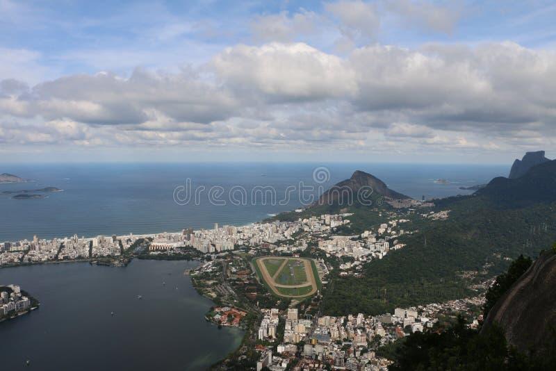 Άποψη από Χριστό το άγαλμα απελευθερωτών, Ρίο ντε Τζανέιρο, Βραζιλία στοκ εικόνες