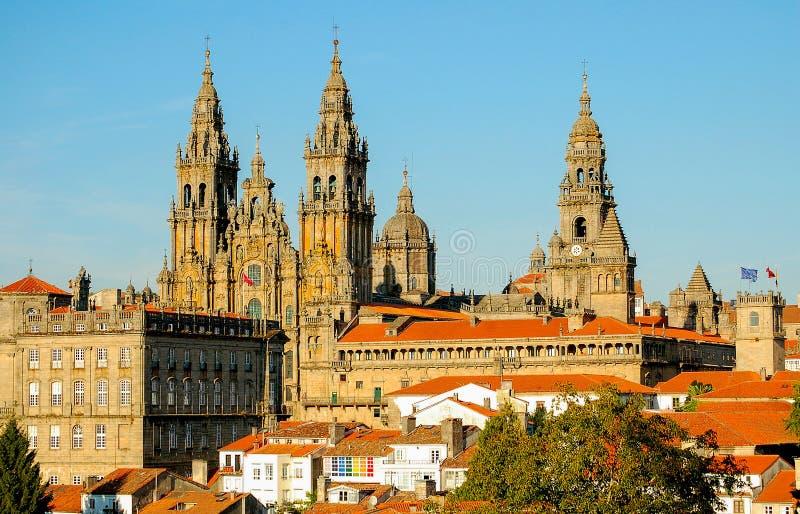 Άποψη από Parque DA Alameda - Σαντιάγο de Compostela στοκ εικόνες