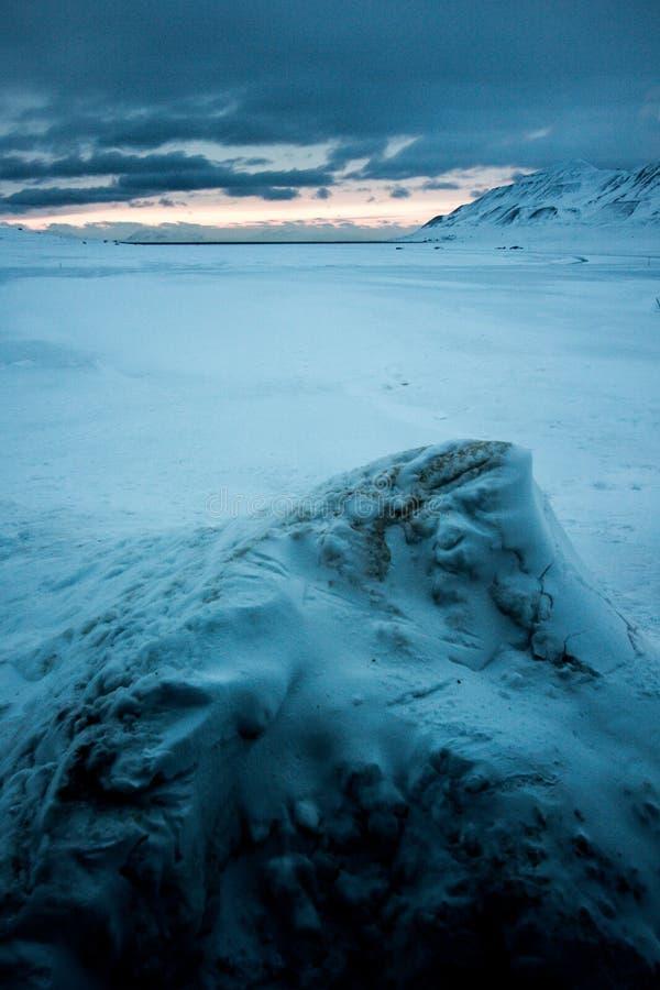 Άποψη από Svalbardhytta στοκ φωτογραφία με δικαίωμα ελεύθερης χρήσης