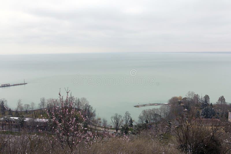 Άποψη από Tihany στοκ φωτογραφίες