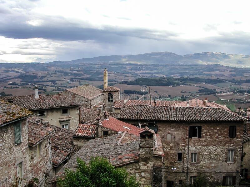 Άποψη από Todi, Ιταλία στοκ εικόνες