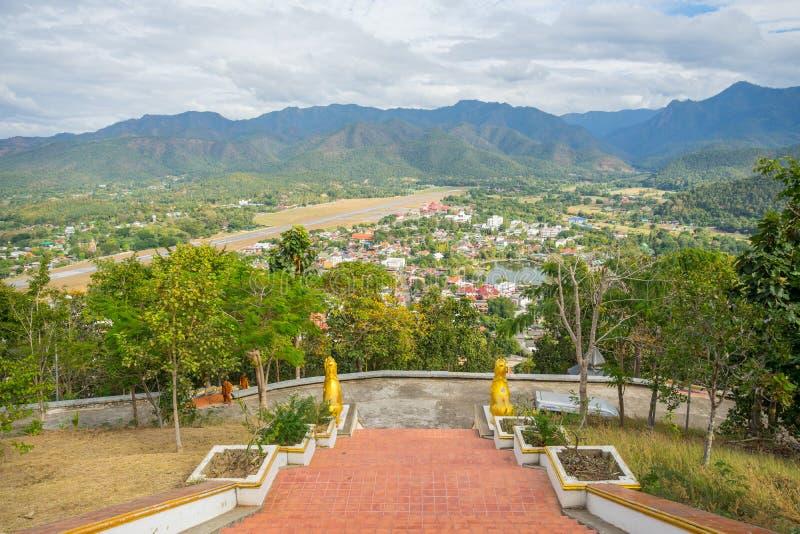 Άποψη από Wat Phra που Doi Kong MU Ταϊλάνδη στοκ εικόνες με δικαίωμα ελεύθερης χρήσης