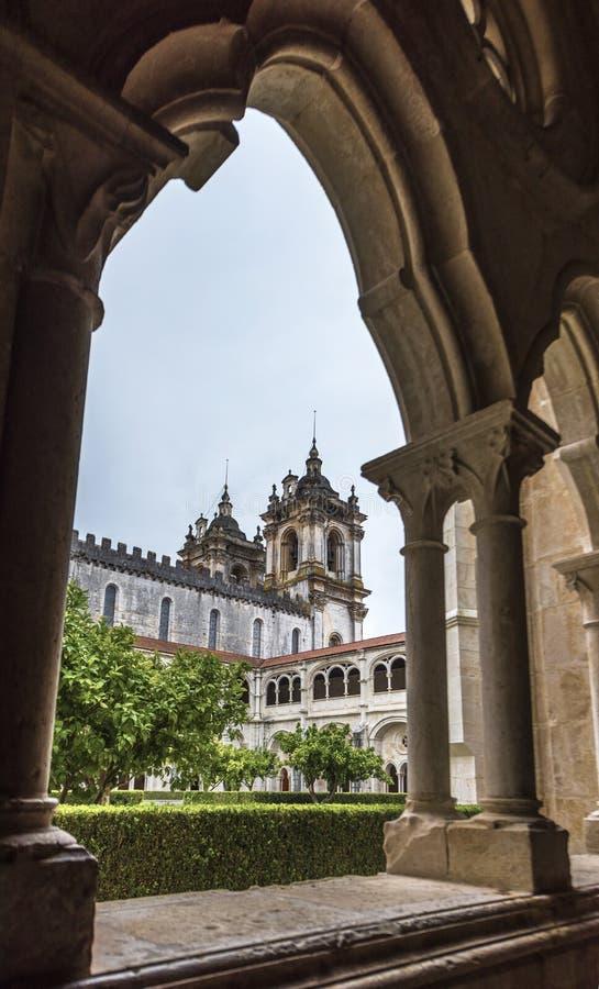 Άποψη αψίδων στο μοναστήρι Alcobaca στοκ φωτογραφίες με δικαίωμα ελεύθερης χρήσης