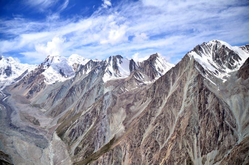 Άποψη 3 βουνών του Τατζικιστάν στοκ εικόνες