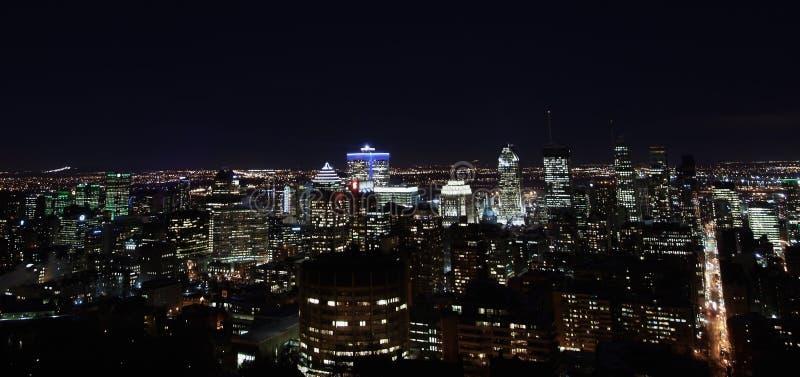 Άποψη βραδιού του Μόντρεαλ στοκ φωτογραφία με δικαίωμα ελεύθερης χρήσης
