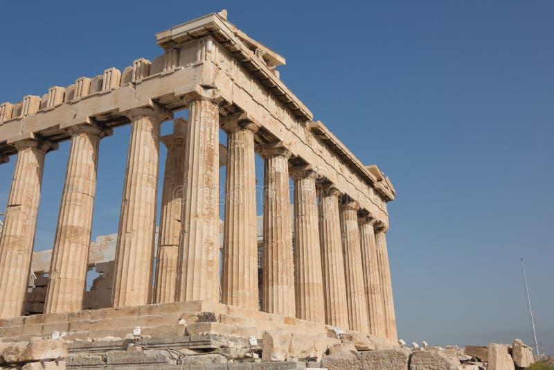 Άποψη γωνιών του Parthenon στοκ φωτογραφίες