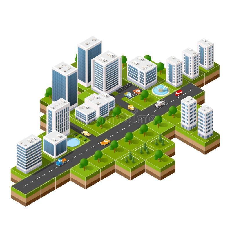 Άποψη εικονικής παράστασης πόλης της κορυφής απεικόνιση αποθεμάτων