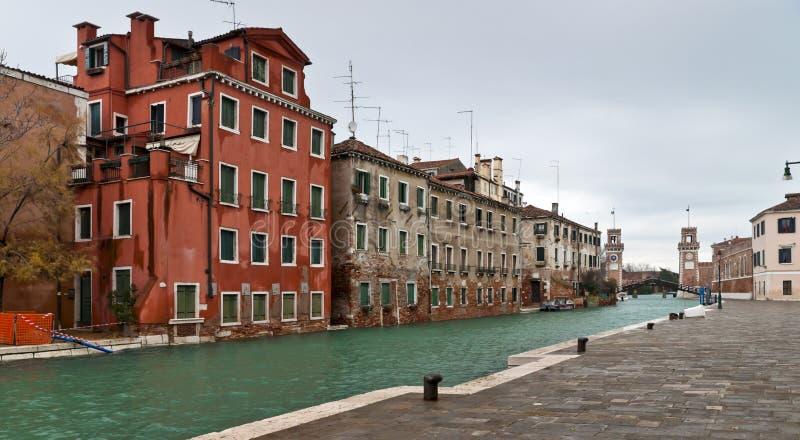 Άποψη εισόδων οπλοστασίων της Βενετίας στοκ εικόνες