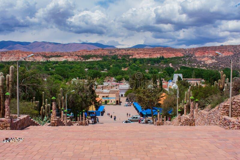 Άποψη ενός παλαιού χωριού, Humahuaca, Jujuy, Αργεντινή στοκ εικόνα με δικαίωμα ελεύθερης χρήσης