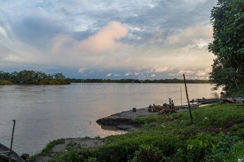 Άποψη ενός ποταμού Napo στοκ φωτογραφίες με δικαίωμα ελεύθερης χρήσης