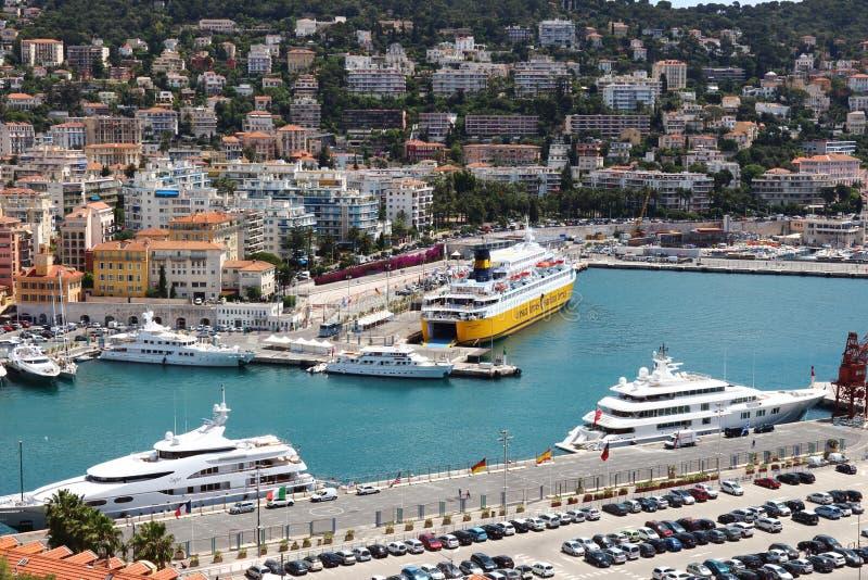 Άποψη επάνω στο λιμένα της Νίκαιας στη Γαλλία στοκ φωτογραφίες