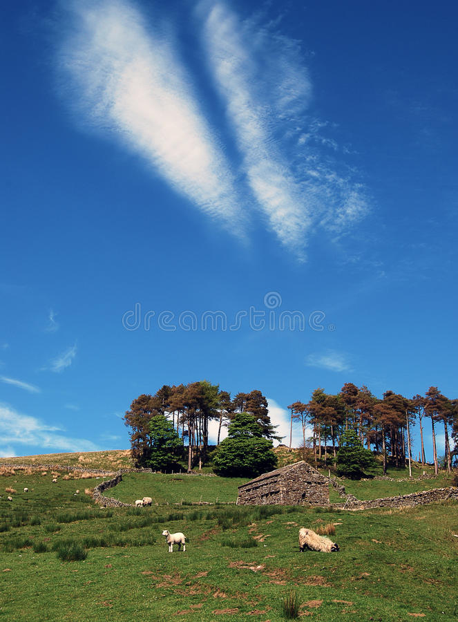 Άποψη επαρχίας κοιλάδων του Γιορκσάιρ στοκ φωτογραφία με δικαίωμα ελεύθερης χρήσης