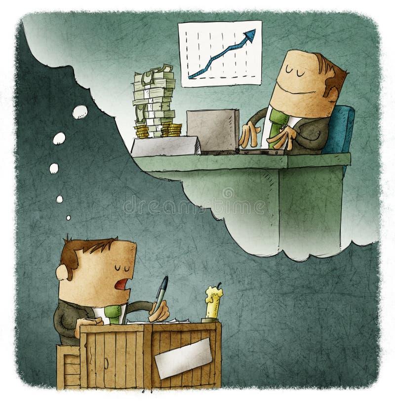 Άποψη επιχειρηματιών το μέλλον διανυσματική απεικόνιση
