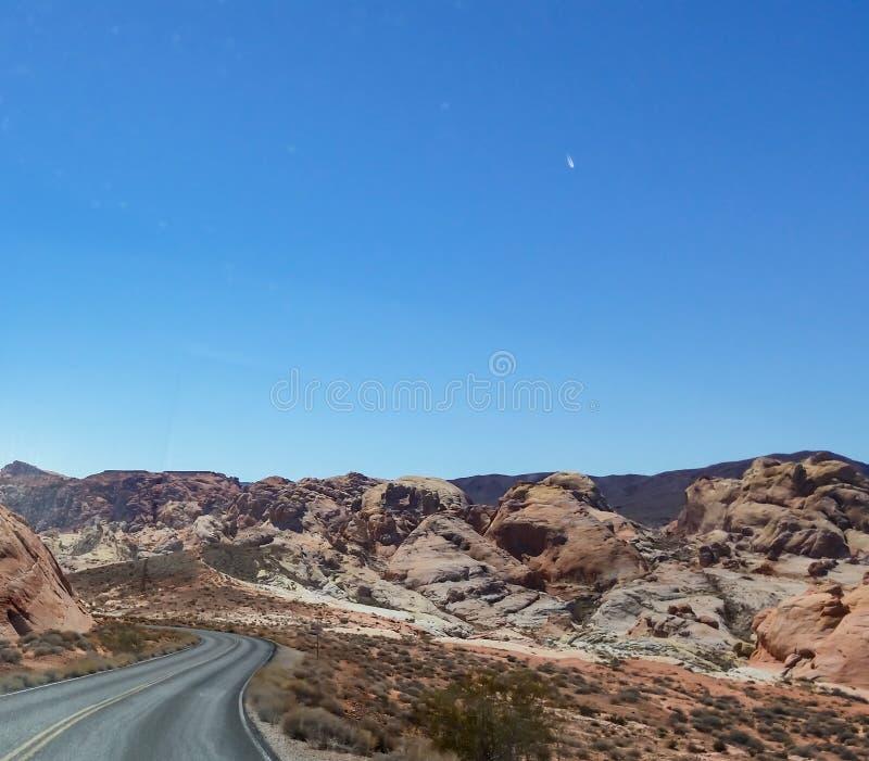 Άποψη ερήμων κοιλάδων ουράνιων τόξων στοκ φωτογραφίες με δικαίωμα ελεύθερης χρήσης