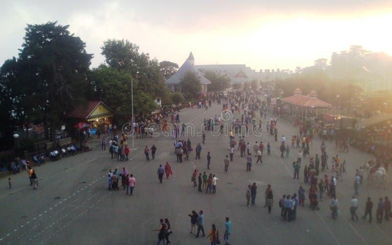 Άποψη ηλιοβασιλέματος πόλεων Simla στοκ εικόνες με δικαίωμα ελεύθερης χρήσης