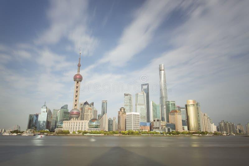 Άποψη ηλιοβασιλέματος του ορίζοντα της Σαγκάη, Κίνα στοκ φωτογραφίες