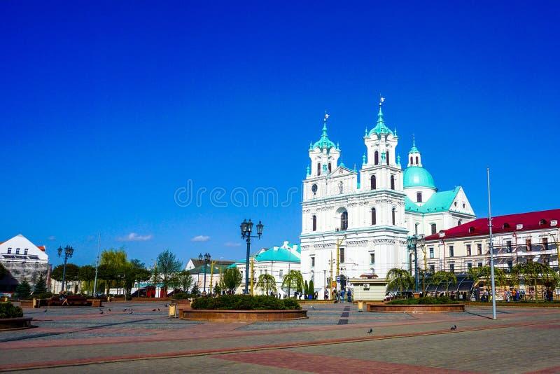 Άποψη καθεδρικών ναών Γκρόντνοστε Jesuit στοκ φωτογραφίες