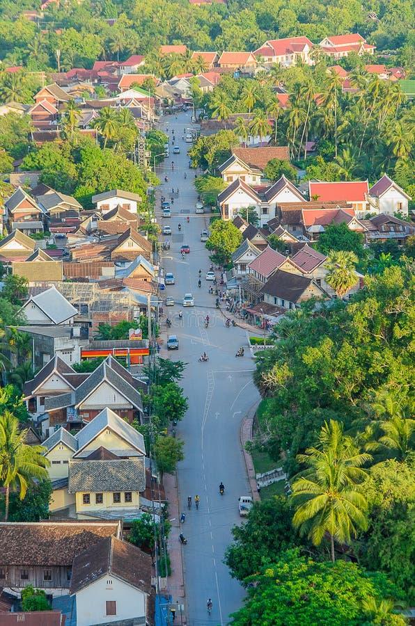 Άποψη και τοπίο στο luang prabang, Λάος στοκ εικόνες
