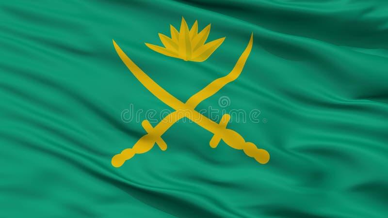 Άποψη κινηματογραφήσεων σε πρώτο πλάνο σημαιών στρατού του Μπανγκλαντές ελεύθερη απεικόνιση δικαιώματος