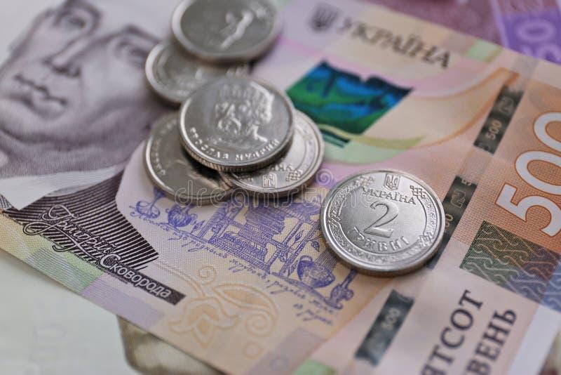 Άποψη κινηματογραφήσεων σε πρώτο πλάνο των ουκρανικών χρημάτων στοκ φωτογραφία με δικαίωμα ελεύθερης χρήσης