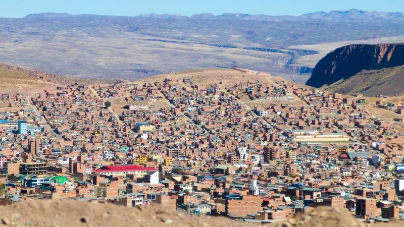 Άποψη Λα Παζ από τη EL Alto, Βολιβία στοκ φωτογραφίες με δικαίωμα ελεύθερης χρήσης