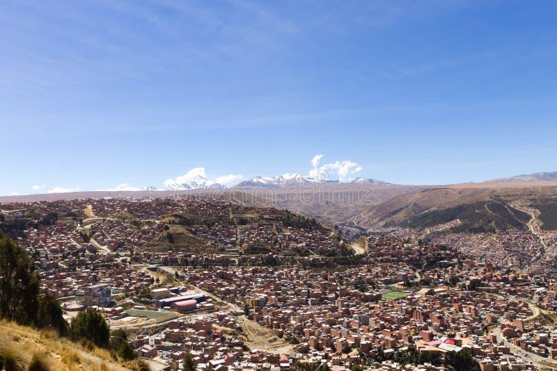 Άποψη Λα Παζ από τη EL Alto, Βολιβία στοκ φωτογραφία με δικαίωμα ελεύθερης χρήσης