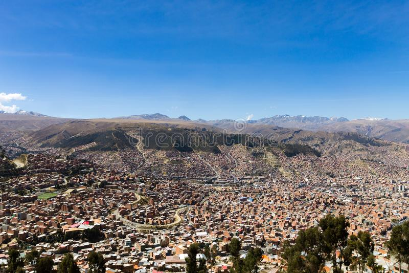Άποψη Λα Παζ από τη EL Alto, Βολιβία στοκ εικόνα με δικαίωμα ελεύθερης χρήσης