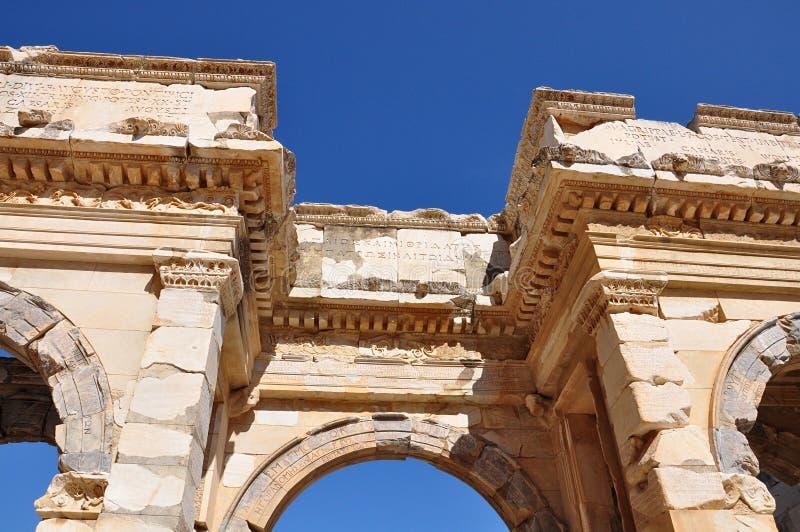 Άποψη λεπτομέρειας από την αρχαία πόλη Ephesus Ιζμίρ Τουρκία στοκ φωτογραφία με δικαίωμα ελεύθερης χρήσης