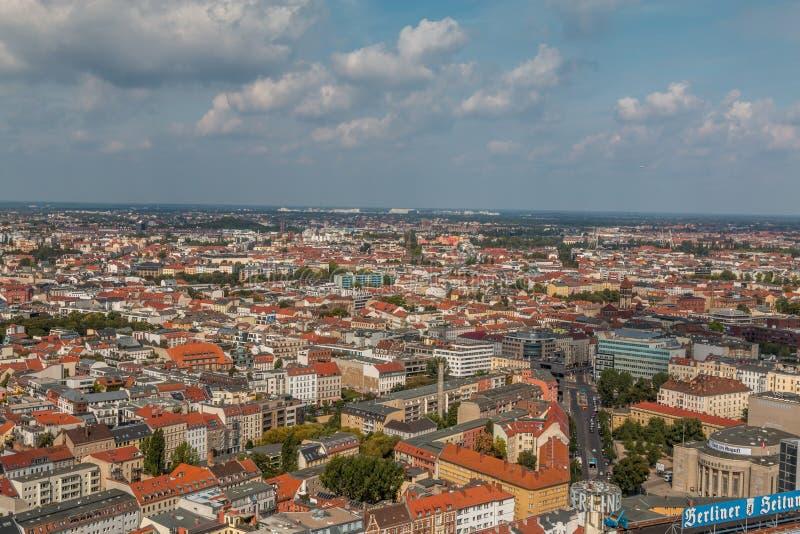 Άποψη ματιών πουλιών του Βερολίνου Γερμανία στοκ εικόνα με δικαίωμα ελεύθερης χρήσης