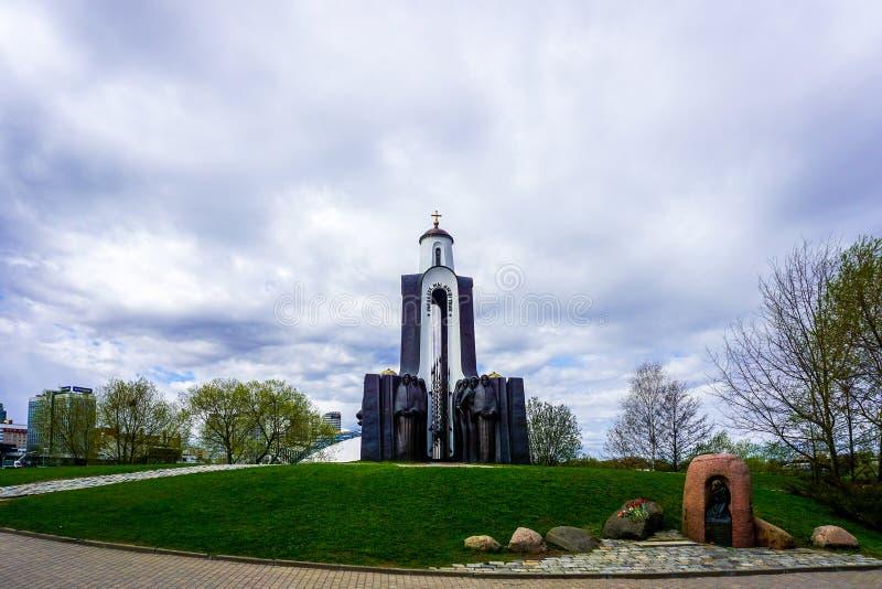 Άποψη μνημείων πατρικών γών του Μινσκ στοκ φωτογραφίες
