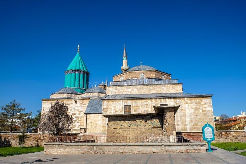 Άποψη μουσείων Mevlana από τον κήπο στοκ φωτογραφία με δικαίωμα ελεύθερης χρήσης