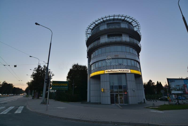 Άποψη νύχτας πόλεων του Lublin στοκ φωτογραφία