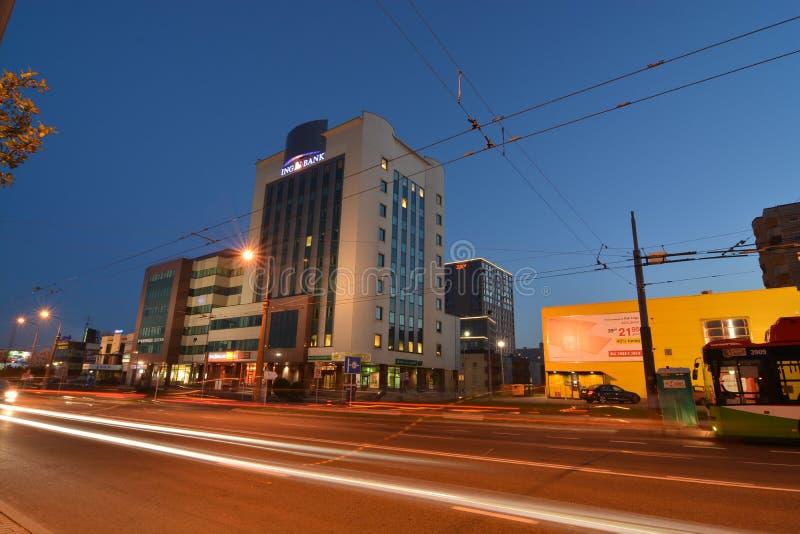 Άποψη νύχτας πόλεων του Lublin στοκ εικόνες με δικαίωμα ελεύθερης χρήσης