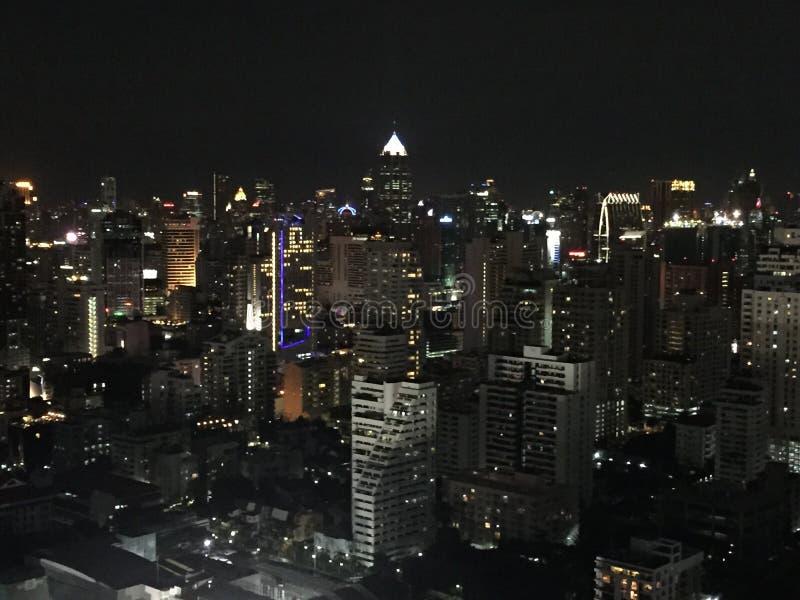 Άποψη νύχτας της Μπανγκόκ στοκ φωτογραφία με δικαίωμα ελεύθερης χρήσης