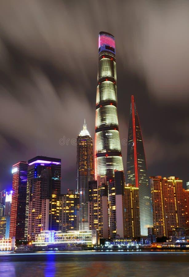 Άποψη νύχτας της Σαγκάη στοκ φωτογραφίες με δικαίωμα ελεύθερης χρήσης