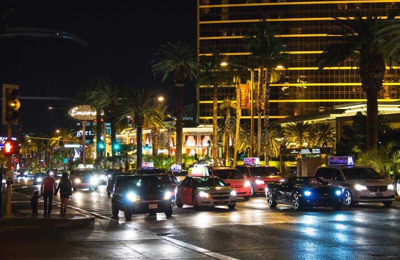 Άποψη νύχτας του Λας Βέγκας στοκ εικόνα