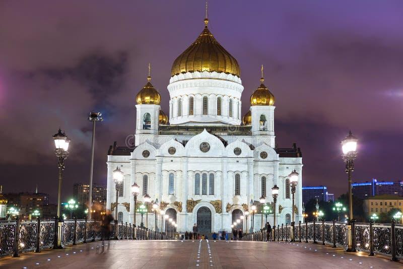 Άποψη νύχτας του Χριστού ο καθεδρικός ναός Savior στη Μόσχα στοκ φωτογραφίες με δικαίωμα ελεύθερης χρήσης