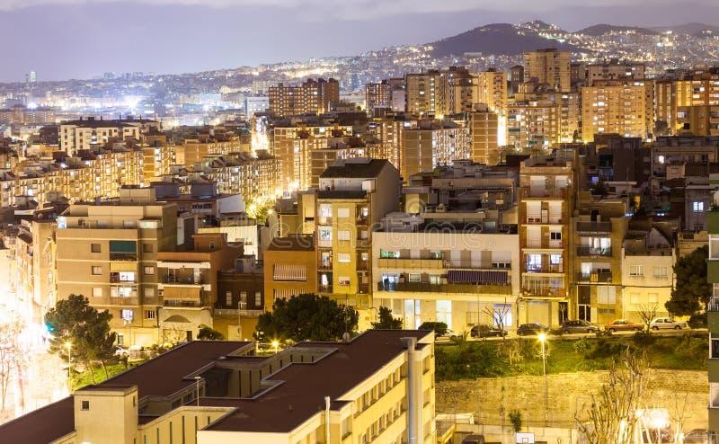 Άποψη νύχτας Badalona στοκ φωτογραφίες