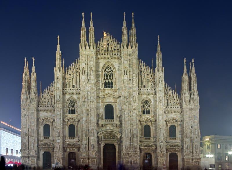 Άποψη νύχτας Di Μιλάνο Duomo στοκ φωτογραφία